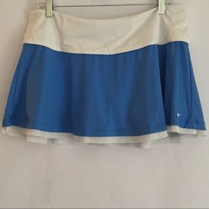 Nike Dri-Fit Tennis Skirt in Blue and White